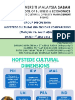 Finalized Cross Culture - Hofstede Dimensions