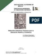Materiales Didácticos Impresos Para La Educación Abierta y a Distancia
