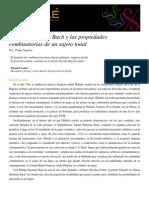 Bach y Las Propiedades Combinatorias de Un Sujeto Tonal (Segarra)
