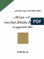 04 Misa Na Cast Kristu Sveceniku - SATB in C - Glibotic 1967 EL 2014