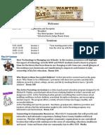 Feeder Pattern Community Event Agenda