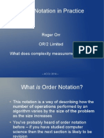 Order Notation in Practice