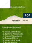 Anaesthesia during Labour by Adnan Akram