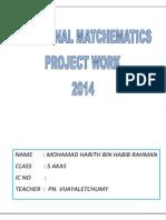Additional Mathematics Project Work 2014