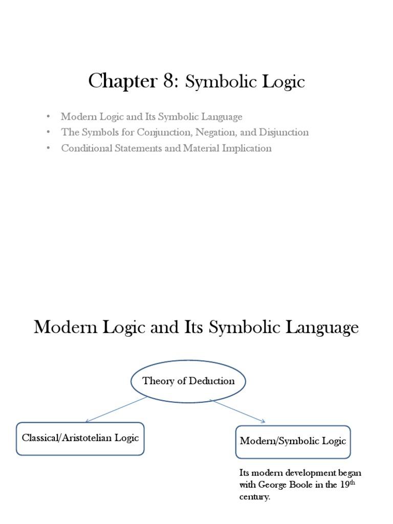 Symbolic Logic 1 Logic Truth