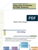 Advertising, Sales Promotion,