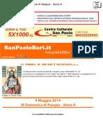 4 Maggio 2014 - III Domenica Di Pasqua - Anno A