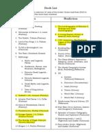ahmeds book list