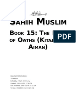 Sahih Muslim - Book 15 - The Book of Oaths (Kitab Al-Aiman)