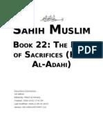 Sahih Muslim - Book 22 - The Book of Sacrifices (Kitab Al-Adahi)