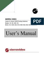 Lassen XL-VSDE-Series 8,12,16,& 32 Manual