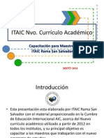 Presentación Nvo. Curriculo ITAIC