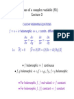 Functions of a Complex Variable Lecture 3