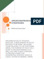 Operational Strategies