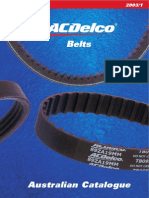 Catalogue ACDelco Belts