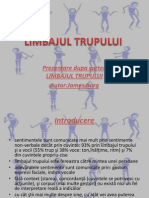 Power Point Limbajul trupului