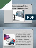 1.Aplicaciones Para Publicar, Almacenar