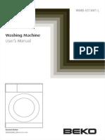 Beko WMB-651441-LA Washing Machine Manual