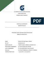 1. Muka Depan Portfolio Internship Sem 8