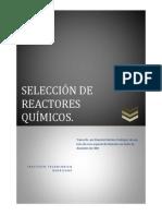 Seleccion de Reactores Quimicos Curso Especial