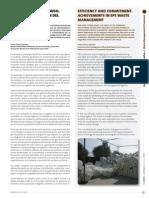 Eficiencia y Compromiso. Logros en La Gestion Del Residuo de EPS. Futurenviro(Julio 13)