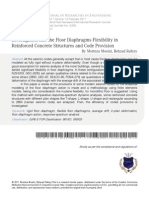 Investigation Into the Floor Diaphragms Flexibility In