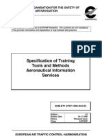 Specification of Training Tools and Methods _Aeronautical Information Services