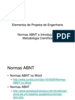 Normas ABNT Intro Metodologia Científica