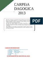 CARPETA PADAGOGICA 2013