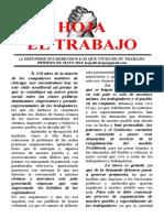 Hoja El Trabajo Mayo 2014