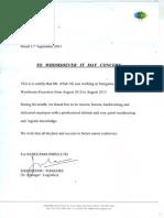 Saregama Experience Letter