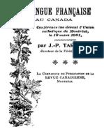 La Langue Francaise Au Canada 000000204
