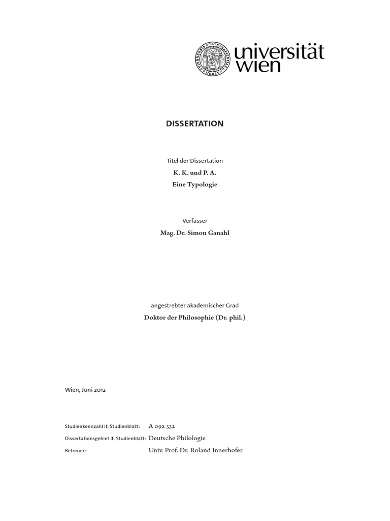 Simon Ganahl _ Karl Kraus Peter Altenberg Typologie