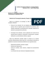 Definicion de Tecnologia de aliementos.docx