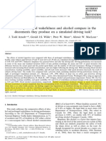 Arnedt 2001_how Do Prolonged Wakefulness and Alcohol Compare in The
