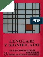 Alejandro Rossi - Lenguaje y Significado