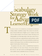 Vocabulary Strategies for Advanced Learners - Mercer