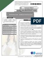 Assistente Administrativo - aocp