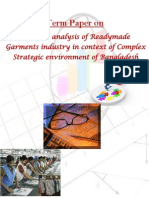 Business and Competitive Analysis of RMG Industry of Bangladesh