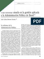 Una Reforma Basada en La Gestión Aplicada a La Administración Pública de Brasil