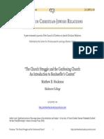 Bonhoeffer and the Church Struggle