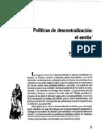 Politicas de Descentralizacion