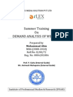 Demand Analysis of Website-Mohammad Alim