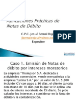 Casos Practicos de Notas de Debito