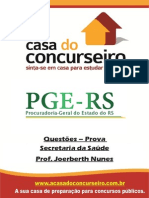 Apostila PGE Maria Da Penha Questoes Prova Sec.dasaude Joerberth