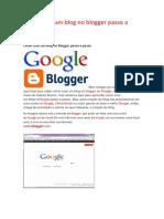 Como Criar Um Blog No Blogger Passo a Passo
