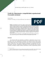 Gestão do conhecimento e competitividade organizacional:Um modelo estrutural