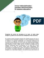 Alumnos Indisciplinados_ Los Grandes Desconocidos Del Sistema Educativo