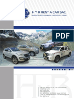 Brochure H y R Rent a Car SAC