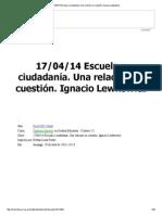 17_04_14 Escuela y Ciudadanía. Una Relación en Cuestión Lewcowickz Naranja